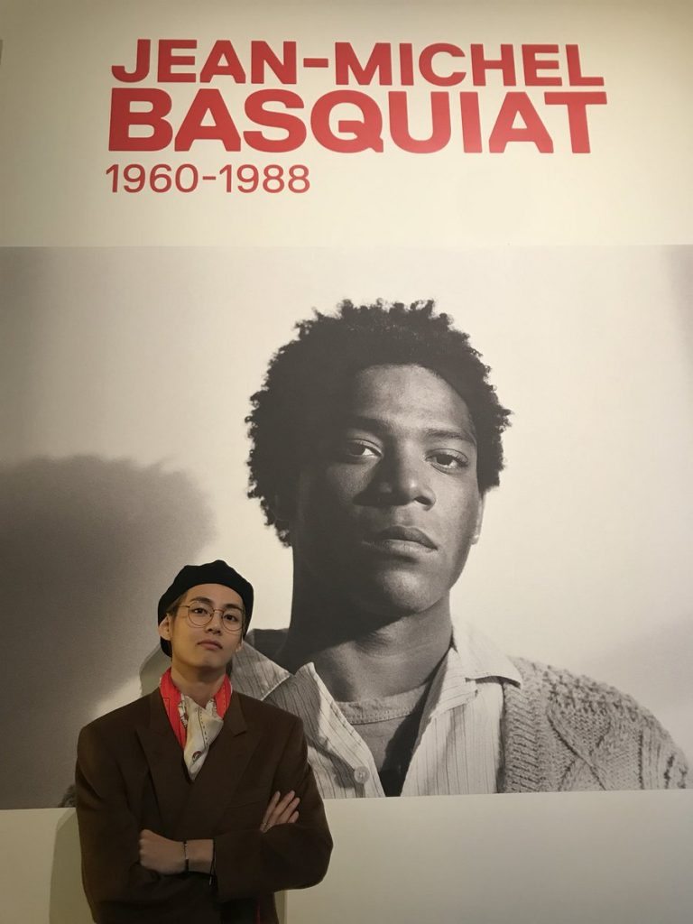 V à l'expo sur Basquiat, à Paris