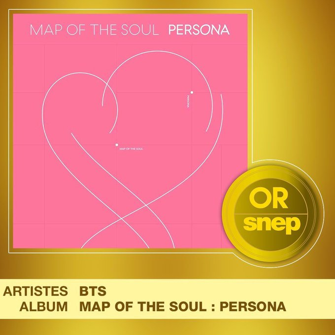 Disque d'Or pour Map of the Soul: Persona