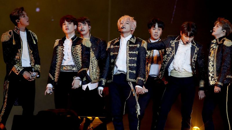 BTS lors du concert Love Yourself à Los Angeles