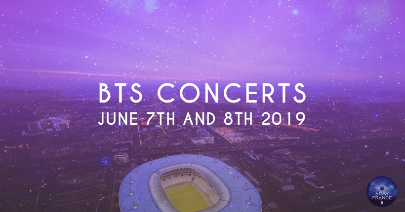 BTS concerts in June 2019 in Paris