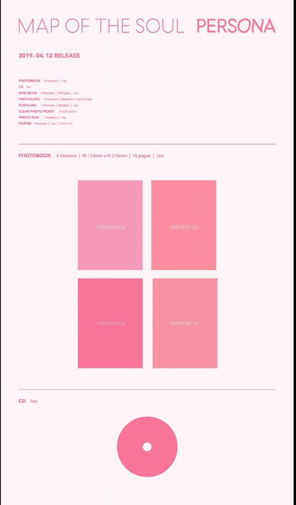 contenu de l'album Map of the Soul: Persona