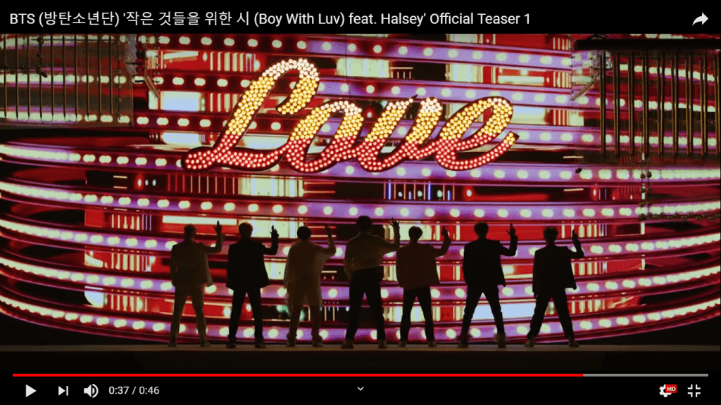 teasers Boy with Luv