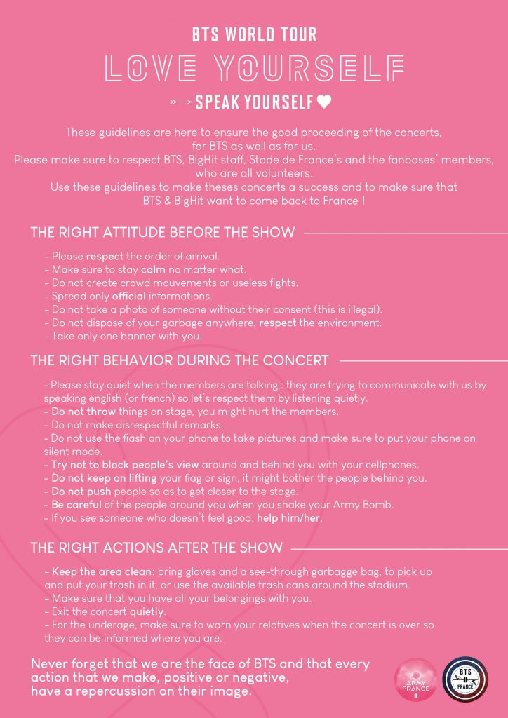 Guideline BTS Stade de France english