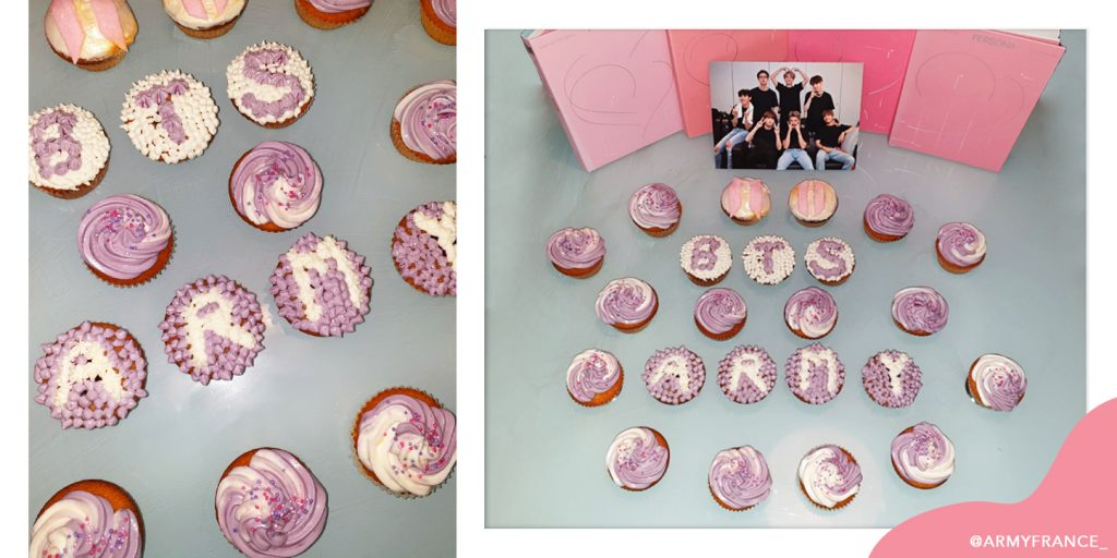 recette cupcakes bts & army