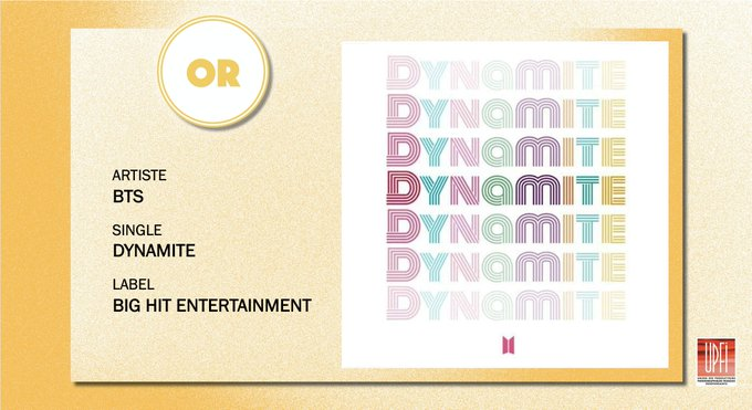 disque d'or Dynamite